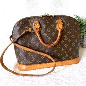 Louis Vuitton Alma PM Monogram Canvas Satchel Bag
